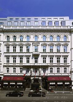 Hotel Sacher, Vienna. we went and had - sacher torte of course. very touristy but we had to go!