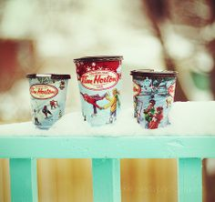 Tim Hortons holiday retro paper cups by Jackie Rueda, via Flickr