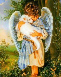 Another baby arriving in Heaven and being comforted by an angel♡