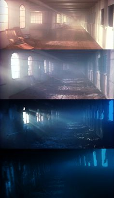 This hallway on the Titanic is shown over the years. This looks really really cool!