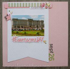12 x 12 scarpbook layout. SEI aunt gerties garden. Buckingham palace. www.clairmatthews.com