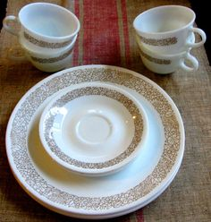 I have the little plates-- would LOVE to find the cups!! I have the blue pattern cups AND plates!