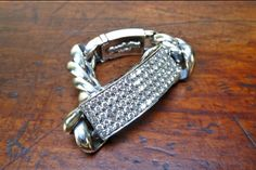 Model 10AA ID Bracelet w/ white diamonds