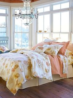 Coral Shells Duvet Cover, Comforter, Shams, Pillows and Window Panels