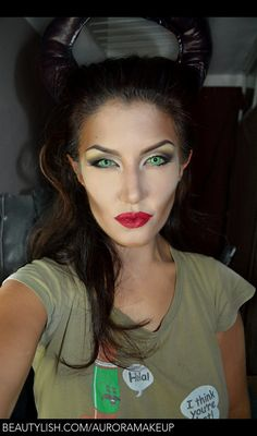 Playing Maleficent - MakeUp For Women İdeas Maleficent Halloween Costume, Maleficent Makeup, Maleficent Cosplay, Movie Halloween Costumes, Halloween Inspo, Halloween Kostüm, Disney Villain Costumes, Maleficient Costume, Kids Costumes Girls