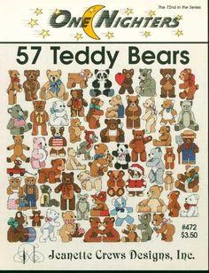 57 Teddy Bears Cross Stitch Patterns One Nighters 472