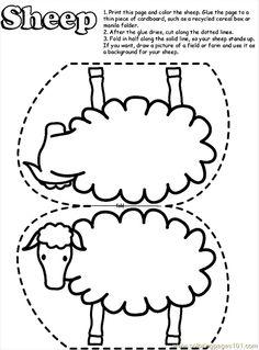 Coloring Pages Sheep13 (Mammals > Sheeps) - free printable ...