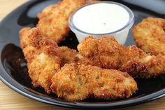 Ranch chicken strips - baked, not fried!