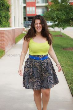 Floral: A-line Skirts for Pearshapes