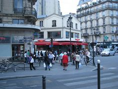 Place Blanche--the Buffalo Grill does decent wings, for when you've had enough of crêpes ;)