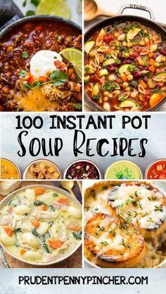 Instant Pot Pasta Recipe, Instant Pot Dinner Recipes, Easy Dinner Recipes, Healthy Soup Recipes, Crockpot Recipes, Cooking Recipes, Instant Pot Pressure Cooker, Pressure Cooker Recipes, Pressure Cooking
