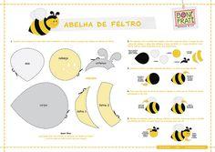 Bee - Abelha de Feltro (Molde e PAP) by BoniFrati ® bonifrati.com.br, via Flickr
