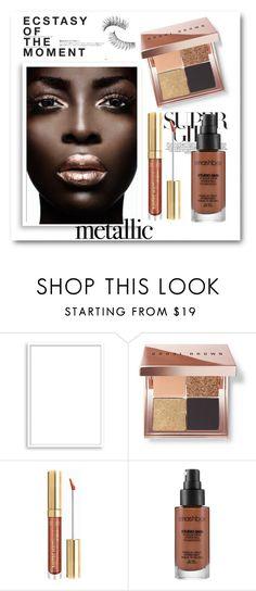 """Shine On: Metallic Makeup"" by bmaroso ❤ liked on Polyvore featuring beauty, Bomedo, Bobbi Brown Cosmetics, Milani, Smashbox, Hedi Slimane and Trish McEvoy"