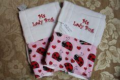 Lady Bug burp cloths: $7 each