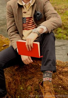 Classy and preppy winter look.