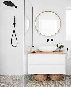 Bathroom Styling, Bathroom Interior Design, Modern Bathroom Design, Bad Inspiration, Bathroom Inspiration, Bathroom Renos, Small Bathroom, Modern White Bathroom, Shiplap Bathroom