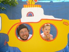 The Yellow Submarine photo booth we set up for our daughter Poppy's 1st Birthday.