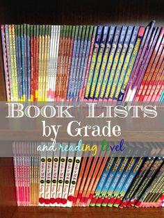List of books according grade level!!