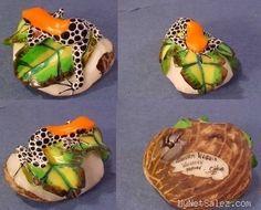 Wounaan Tagua Frog Carving Panama 21612 | eBay