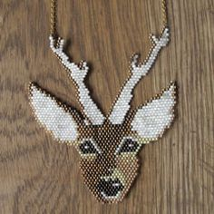 Beaded Stag Necklace