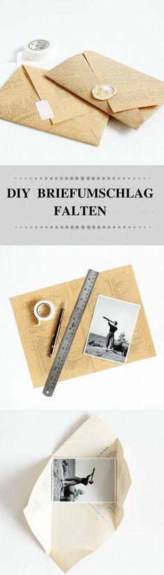 Umschlag falten DIY Geschenke basteln