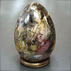 Minerali, Legno fossile, Wood fossil, uovo egg, Madagascar 74mm