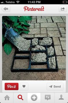 DIY cement pavers