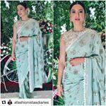 #celebritystyle Gauahur Khan wearing Sue Mue's Iba from the latest Albeli collection at a wedding recently.  #gauharbanialbeli #suemuebanialbeli #saree #mukaish #chikankari #mint #traditionalindianwear  Jewelry by @rathodjewellerspune and gorgeously styled by @devs213  #bollywood #style #fashion #beauty #bollywoodstyle #bollywoodfashion #indianfashion #celebstyle #gauaharkhan #suemue