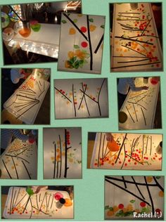 Blaadjes op lichtbak. Gevonden op: http://stimulatinglearning.co.uk/2014/10/enjoying-autumn/