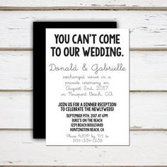 elopement announcement ideas - Google Search                                                                                                                                                                                 More