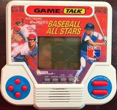 TIGER'S ALL STARS BASEBALL LCD Video Game Talk Electronics Handheld 1990 VINTAGE | eBay