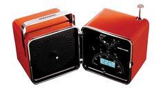 The Brionvega 522 cube radio opens like a shell, created by design suo Marco Zanuso and Richard Sapper.  www.homeless.hk