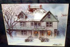 Texas Artist BB Berrick Print Artist Hand Signed In Vintage Wood Frame Realism  #Realism