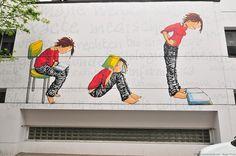 Street Art - Student Girl. Flickr Photo By: antwerpenR