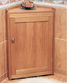 How to Build Simple Corner Bathroom Cabinet - Free Woodworking Plans. Rockler.com/how-to