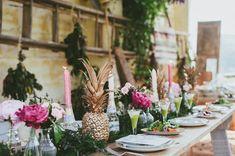 A #wedding #reception with a tropical luau feel.