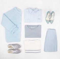 Not necessarily a fan of this exact outfit but i like the shades of pastel and grey