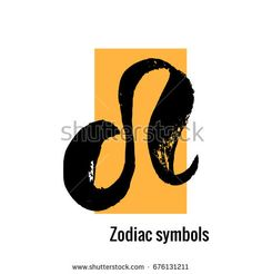 Signs of the zodiac.  Leo symbol hand draw. Black silhouette. Vector illustration with yellow rectangle isolated on a white background. https://www.shutterstock.com/g/ORLOVA+YULIA?rid=3577073&utm_medium=email&utm_source=ctrbreferral-link