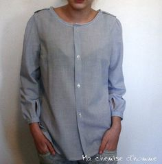 upcycled man's shirt
