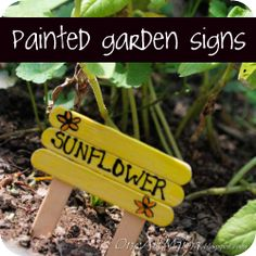 Painted Garden Signs.Favorite Sign  Some People Can Walk Through My Garden For Hours,One Will See Weeds The Other Will See Flowers