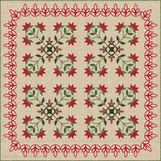 Poinsettia Patch quilt pattern by Edyta Sitar
