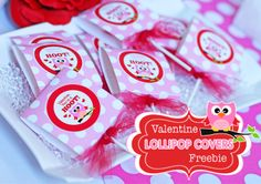 FREE VALENTINES Lollipop Covers for Girls & Boys (both versions included!)