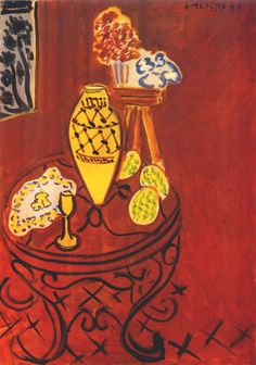 Interior in Venetian Red 1946. Henri Matisse