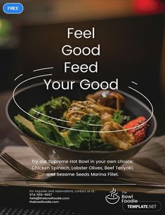 Free Advertisement Poster Template - A professionally designed poster template for food establishments' advertisement. This file is f - # Restaurant Advertising, Restaurant Poster, Food Advertising, Creative Advertising, Advertising Poster, Advertising Design, Product Advertising, Restaurant Identity, Advertising Quotes