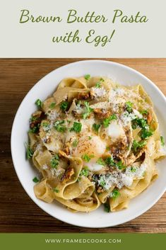 This easy recipe for brown butter pasta with egg mixes the rich, nutty taste of browned butter with creamy egg for a flavorful pasta dinner. Egg Pasta Sauce, Egg Pasta Recipe, Butter Sauce For Pasta, Pasta Recipes, Weeknight Meals, Easy Meals, Cooking Together, Paleo Dinner, Dinner Recipes