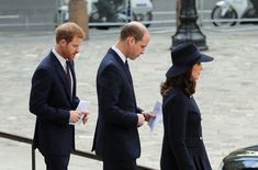 Kate Middleton Photos - Catherine, Duchess of Cambridge, Prince William, Duke of Cambridge (C) and Prince Harry leave the Grenfell Tower National Memorial Service held at St Paul's Cathedral on December 14, 2017 in London, England. The Royal Family and Prime Minister joined survivors of the Grenfell Tower at the memorial at St Paul's Cathedral for the six-month anniversary which killed 71 people - Grenfell Tower National Memoria