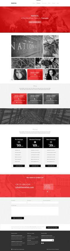 Radical - Single Page PSD Template  #website #portfolio #flatdesign