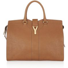 Yves Saint Laurent Cabas Chyc Large leather tote ($2,150) ❤ liked on Polyvore