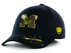 """Michigan Wolverines NCAA TOW """"Dog Tag"""" Stretch Fitted Hat New #TopoftheWorld #MichiganWolverines"""