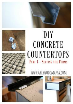 We finally have countertops! And they are not just any countertops – concrete countertops! We have spent countless hours researching our countertop options and as some of you know, we w… Farmhouse Outdoor Furniture, Farmhouse Kitchen Diy, Farmhouse Style Table, Farmhouse Wall Decor, Diy Kitchen, Kitchen Bars, Concrete Bar Top, Polished Concrete, Diy Concrete Countertops